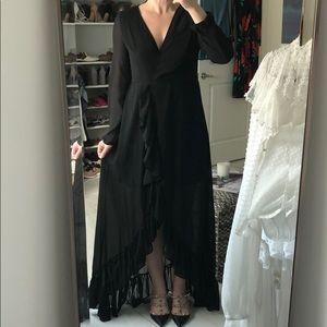 Dresses & Skirts - Black high-low ruffle dress